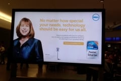 Debra Ruh billboard at JFK Airport – Dell's Take Your Own Path commercial