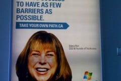 Debra Ruh billboard in DC subway – Dell's Take Your Own Path commercial
