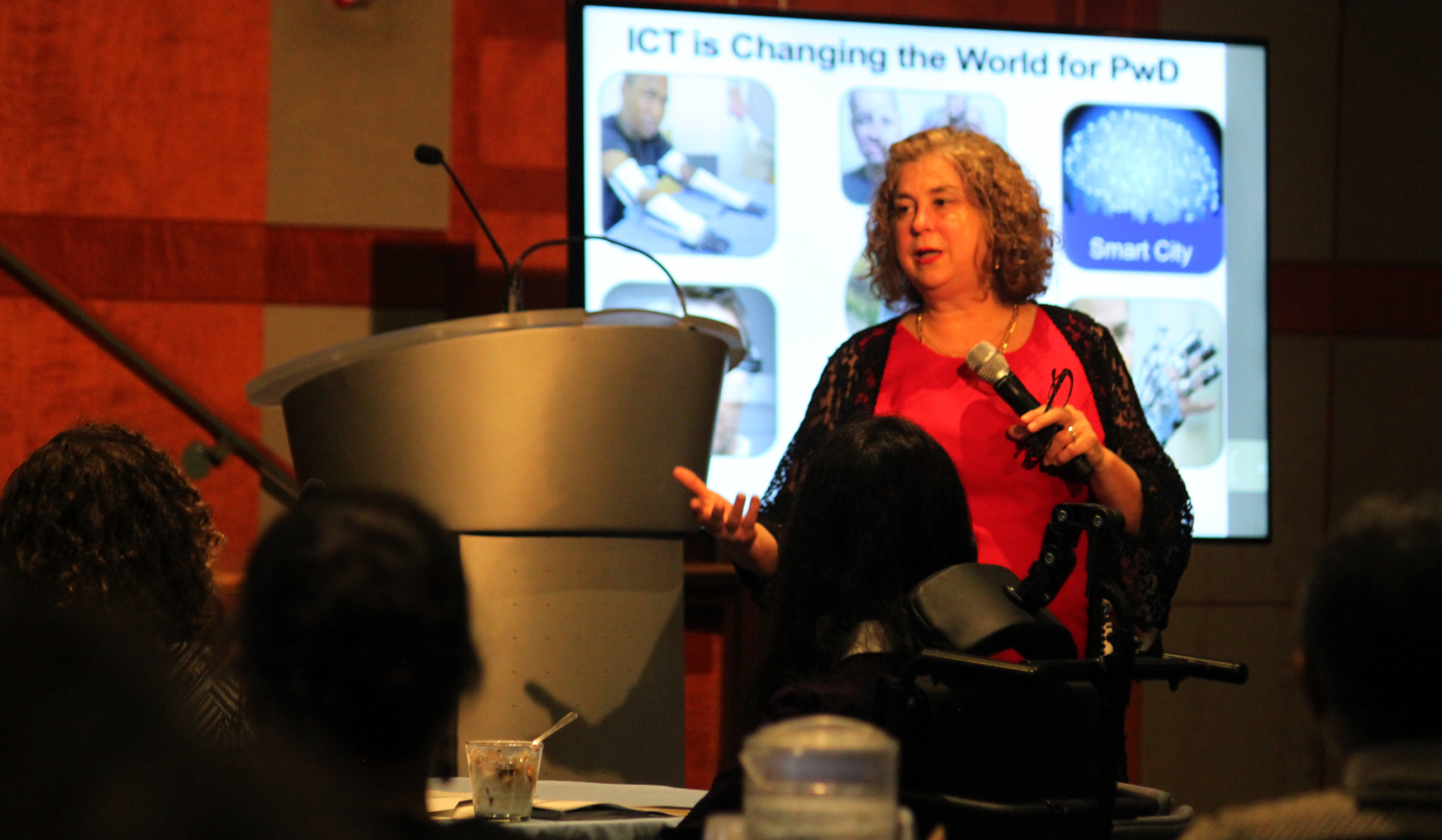 Photo of Debra Ruh Speaking at a Seminar for World Bank and IFC.