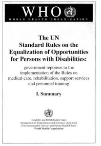 Cover of the UN Standard Rules on the Equalization of Opportunities for PWD.