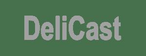 DeliCast Grayscale Logo