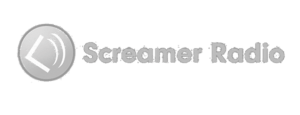creamer Radio Gray Scale Logo