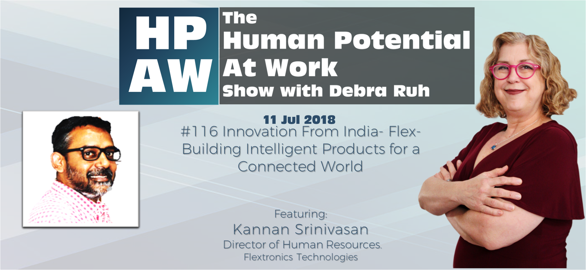 Episode Flyer for #116 Innovation From India- Flex- Building Intelligent Products for a Connected World